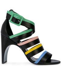 cd29f5adcfd Lyst - Balenciaga Studded Leather Block-heel Sandal in Black