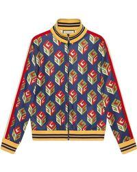 Gucci - GG Wallpaper Technical Jersey Jacket - Lyst