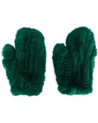 Yves Salomon - Mitten Gloves - Lyst