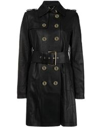 Patrizia Pepe - Snake-effect Trench Coat - Lyst