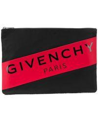 Givenchy - Logo Stripe Pouch - Lyst