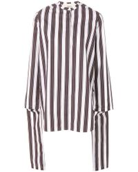 Ports 1961 - Draped Striped Blouse - Lyst