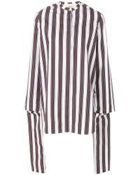 Ports 1961 - Draped Striped Blouse - Lyst