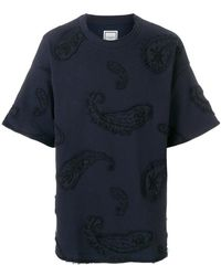 Wooyoungmi - Embroidered Applique T-shirt - Lyst