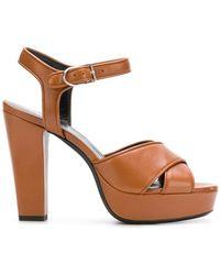 Sonia Rykiel Mme Rykiel sandals - Brown farfetch marroni Pelle Últimas Colecciones En Línea 4wSm2J3