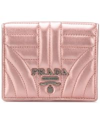 Prada - Diagramme French Wallet - Lyst