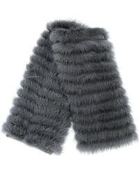 Agnona - Fur Detailed Mini Scarf - Lyst
