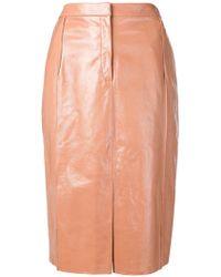DROMe - Lambskin Straight Skirt - Lyst