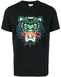 KENZO - T-shirt Tiger con stampa - Lyst