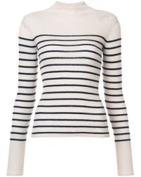 Vince - Striped Rib Knit Jumper - Lyst