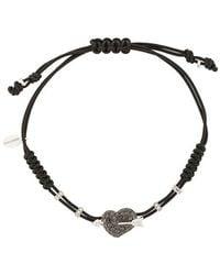 Pippo Perez - 18kt White Gold And Diamond Arrow Heart Bracelet - Lyst