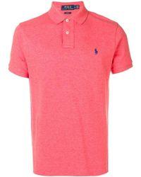 Ralph Lauren - Embroidered Logo Polo Shirt - Lyst