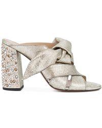Chloé - Nellie Crystal Heel Mule Sandals - Lyst