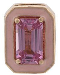 Alison Lou - 14kt Yellow Gold Pink Sapphire Stud - Lyst