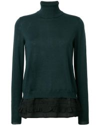 P.A.R.O.S.H. - Roll-neck Fitted Sweater - Lyst