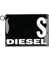 DIESEL Glossy Logo-print Pouch