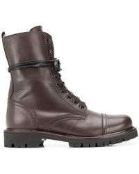 Paris Texas - Lace-up Military Boots - Lyst