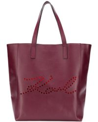 Karl Lagerfeld - K/signature Perforated Shopper Tote - Lyst