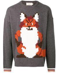 Maison Kitsuné - Pixel Fox Jacquard Wool Sweater - Lyst