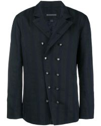 John Varvatos - Double-breasted Shirt Jacket - Lyst