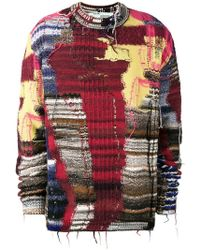 Off-White c/o Virgil Abloh - Business Casual Knit Jumper In Red - Lyst