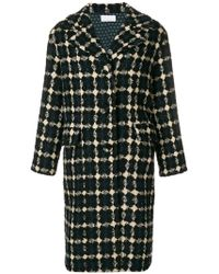 P.A.R.O.S.H. - Buttoned Cocoon Coat - Lyst