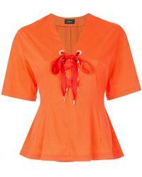 G.v.g.v - Lace-up T-shirt - Lyst