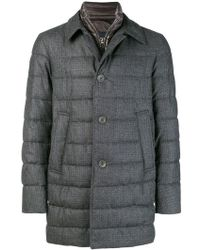 Herno - Quilted Coat - Lyst