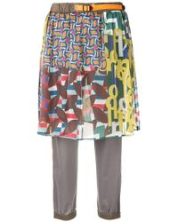 Kolor - Printed Skirt Pants - Lyst