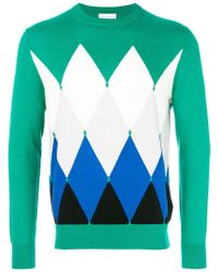 Ballantyne - Diamond Pattern Jumper - Lyst