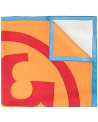 Tory Burch - Colour-block Logo Scarf - Lyst