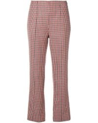 Courreges - Houndstooth Straight Trousers - Lyst