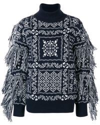 Sacai - Embroidered Roll-neck Jumper - Lyst