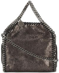 Lyst - Stella McCartney Falabella Tiny Quilted Cross-body Bag in Natural f4645464194ea