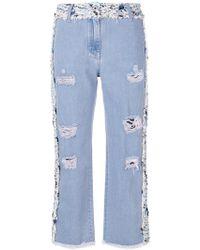 Blumarine | Panelled Tweed Jeans | Lyst