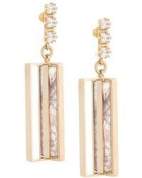 Crystalline - Flourite Stone Earrings - Lyst