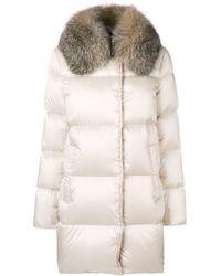 Moncler Fur Collared Coat