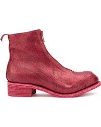 Guidi - Coated Zip Ankle Boots - Lyst