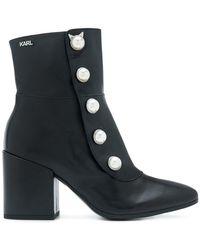 Karl Lagerfeld | Lavinia Midi Boots | Lyst