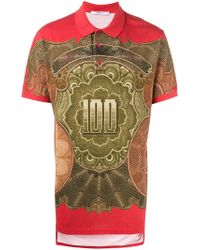 Givenchy - Dollar Print Polo Shirt - Lyst