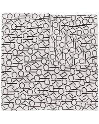 Calvin Klein - Two Tone Monogram Scarf - Lyst