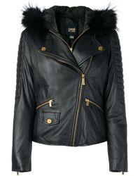 Class Roberto Cavalli - Leather Jacket - Lyst