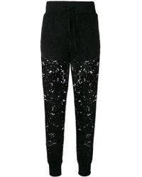 Twin Set - Lace Track Pants - Lyst