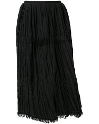 Uma Wang - High Waisted Ruched Skirt - Lyst