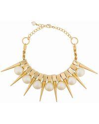 Balmain - 'Danger' Halskette mit Perlen - Lyst