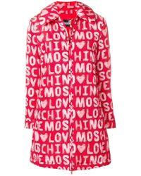 Love Moschino - Logo Printed Coat - Lyst