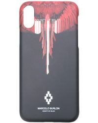 Marcelo Burlon Black And Red Wings Iphone X Case