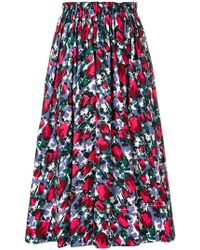 Marni | Pleated Floral Skirt | Lyst