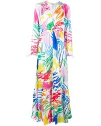 Mira Mikati - Scribble Printed Ruched Waist Dress - Lyst