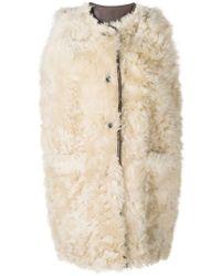 Marni - Furry Sleeveless Coat - Lyst